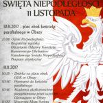 Święto Niepodległości 11 LISTOPADA 2017